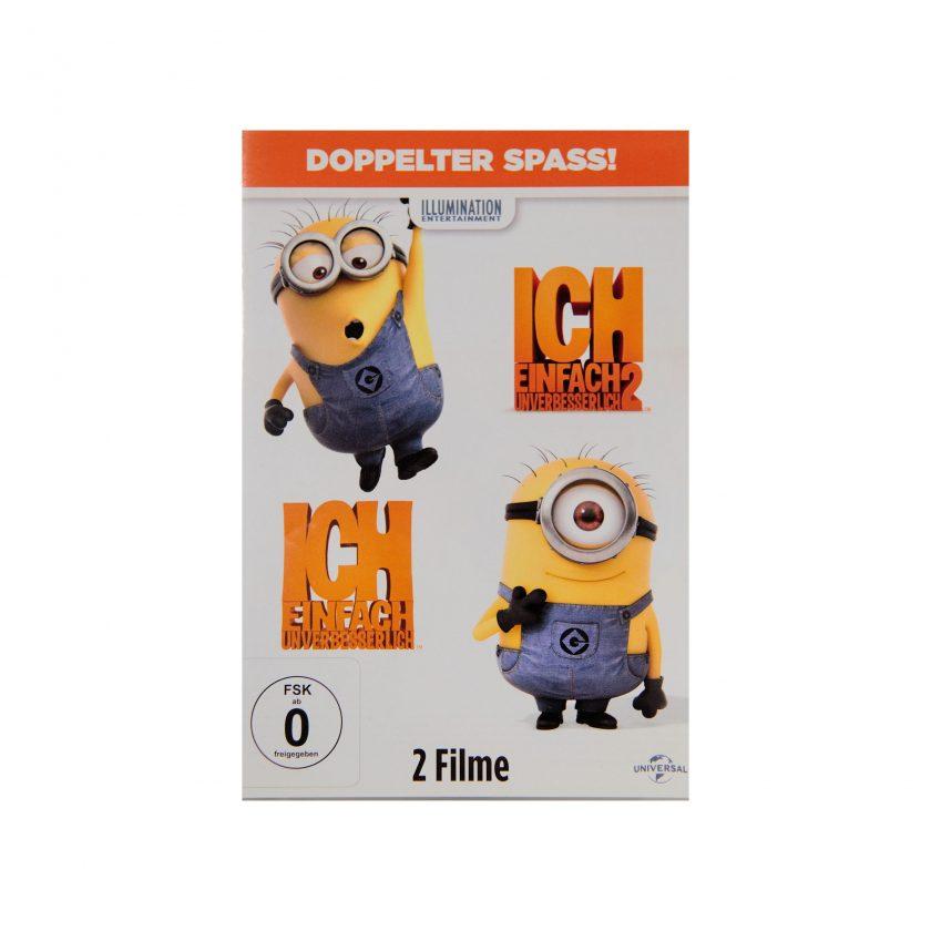 Bild von DVD: Ich einfach unverbesserlich (2 Filme: 1 & 2). Doppelter Spaß. Auf das Cover sieht man zwei gelbe Minions. Gebrauchte DVDs - Projekt Carla Styria