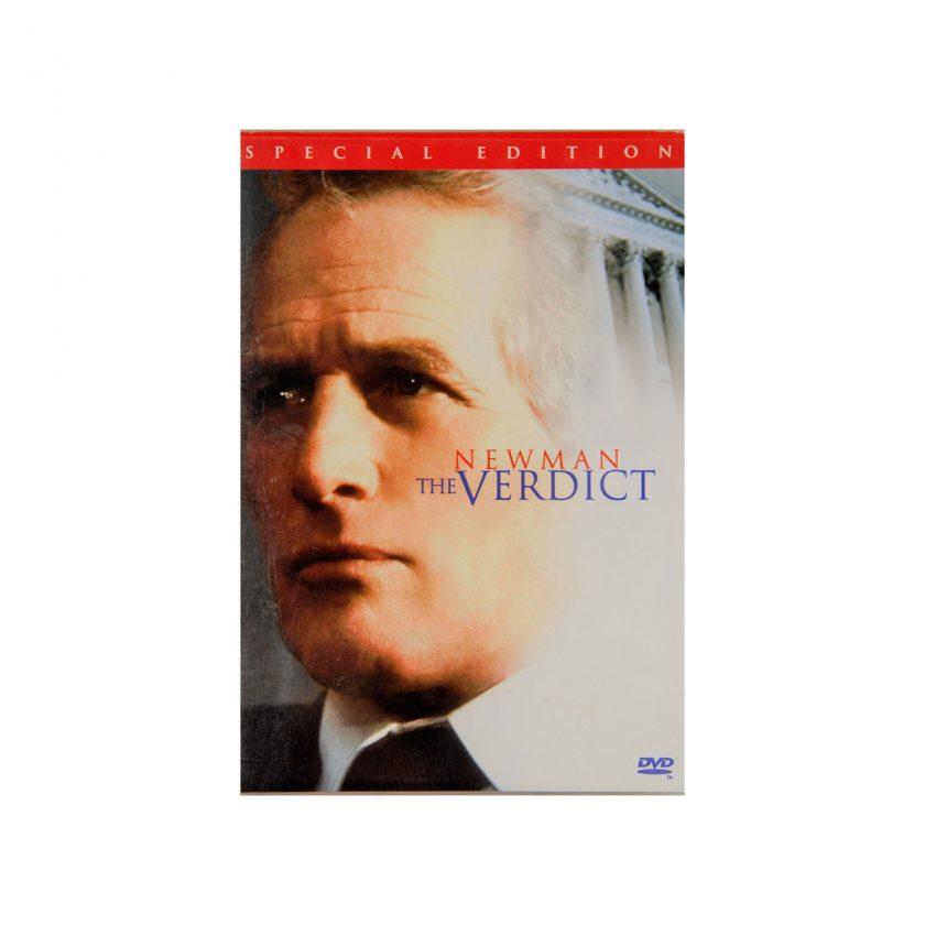 Bild von DVD: The Verdict. Auf das Cover sieht man das Gesicht von Paul Newman. Gebrauchte Medien - Projekt Carla Styria